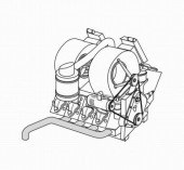 CMK3013 STEYER 1500A - engine set for TAM (Porsche type 145,3517cc V8)