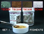 ТВС1 4 pots of pigments THE BATTLE COLORS with thinner Set 1