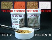 ТВС2  4 pots of pigments THE BATTLE COLORS Set 2