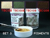 ТВС3  4 pots of pigments THE BATTLE COLORS Set 3