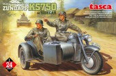 TSK24-004 1/24 GERMAN MOTORCYCLE   ZUNDAPP KS750 w/SIDECAR