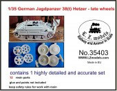 LZ35403 German Jagdpanzer 38 Hetzer late wheels