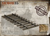 ARM35026 К Railway track (1520/1435 mm,-6000 mm/railway sleeper wooden) -Set of details
