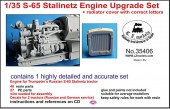 LZ35406 S-65 Stalinetz Engine Upgrade Set including radiator cover with correct letters