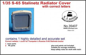 LZ35407 S-65 Stalinetz Tractor radiator cover with correct letters with photoetching