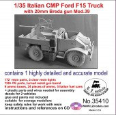LZ35410 Italian CMP Ford F15 truck with 20mm Breda gun