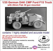 LZ35412 1/35 CMP German DAK Ford F15 with 20mm Flak 30