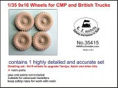 LZ35415 9x16 Wheels for CMP and British Trucks