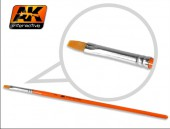 AK 609 Flat Brush 2 Synthetic
