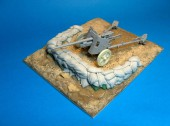 RE35-183 North Africa light anti-tank gun stand