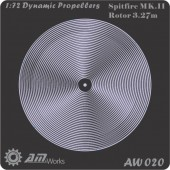 AW020 Dynamic Propeller: 1:72 Spitfire Mk.III Rotor 3.27m
