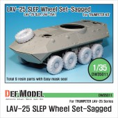 DW35011 LAV-25 Mich. XML Sagged Wheel set (for Trumpeter 1/35)