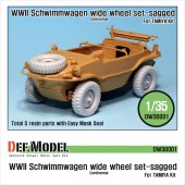 DW30001A  Schwimmwagen Wide Tire(continental)-Sagged (for Tamiya 1/35)