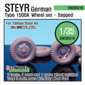 DW30016 WW2 German Steyr 1500A Wheel set (for Tamiya 1/35)
