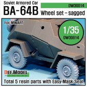 DW30014A WW2 Russian BA-64B Armored car Wheel set (for Miniart 1/35)