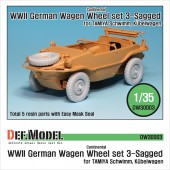 DW30003 German Wagen Tire(continental) - Sagged (for Tamiya 1/35)