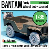 DW30012 WW2 U.K. Bantam Early Wheel set (for Miniart 1/35)
