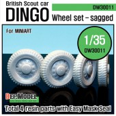 DW30011 WW2 U.K. Dingo Wheel set (for Miniart 1/35)