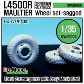 DW30009 WW2 German L4500 R Maultier Wheel set (for Zvezda 1/35)