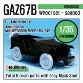 DW30006 GAZ-67B Russian Field car wheel set (for Tamiya 1/35)
