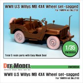 DW30004 Willys MB 4x4 Truck Wheel set (for Tamiya 1/35)