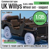 DW30013 WW2 U.K. Commando/SAS Jeep Wheel set (for Tamiya 1/35)