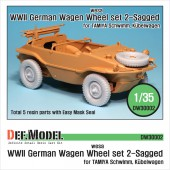 DW30002 German Wagen Tire(WESA) - Sagged (for Tamiya 1/35)