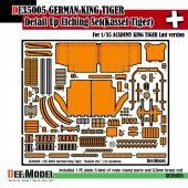 DE35005 King tiger Kassel ver. PE Set (for Academy 1/35)