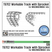 DA35003 T97E2 Workable Track with Sprocket parts (for 1/35 Early M48/M60/M88)