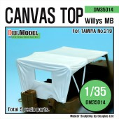 DM35014 Canvas Top for Willys MB 4x4 Truck (for Tamiya 1/35)