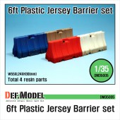 DM35005 Modern 6ft Plastic Jersey Barrier set (4 PCS)