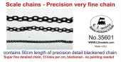 LZ35601 Scale Blackened Chains – Very Fine
