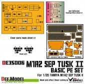 DE35006 M1A2 Tusk Basic PE set with Mask seal (for Tamiya 1/35)