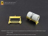 N35A003 1/35 Depth Charge Chute & Cylindrical Ground Mine Chute for WWII British Vosper 72ft6in MTBs