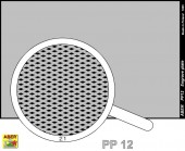 PP12 Engrave plate (88 x 57mm) - pattern 12