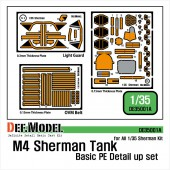DE35001A M4 Sherman Basic PE Detail up set (for 1/35 M4 Sherman)