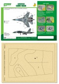 PPA5059 Airbrush CAMO-MASK for 1/48 SU-27 FLANKER Camo 2