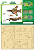 PPA5050 Airbrush CAMO-MASK for 1/72 IAF F-4 Phantom II Camo Scheme