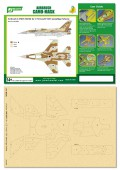 PPA5040 Airbrush CAMO-MASK for 1/72 Israel F16I Camouflage Scheme