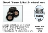 MM35015 Good Year 9,5x16 wheel set (Пластик/резина)