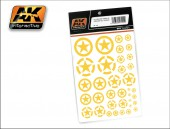 AK 101 US YELLOW STARS IN CIRCLES ALL SCALES