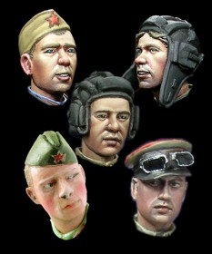 H014 WW2 Russian Heads #2