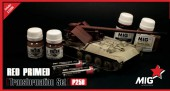 MIG P258 RED PRIMER VEHICLES SET (Contains: P220, P222, P241, P419, ABT025, ABT120)