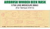 PPA5116 Airbrush Wooden Deck Mask for 1/700 USS MISSOURI BB63 (For Tamiya 31613)