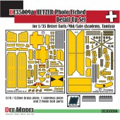 DE35009 Hetzer PE Full Detail Up set (Early/mid/late) (for Academy/Tamiya 1/35)
