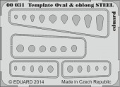 EDU-00031 Template ovals & oblong STEEL
