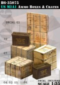 B6-35075 US M2A1 Ammo Boxes & Crates