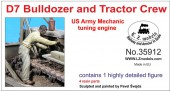 LZ35912 US Army D7 tractor +bulldozer mechanic