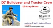 LZ35911 US Army D7 tractor +bulldozer driver