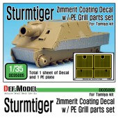 DD35005 WWII SturmTiger Zimmerit Decal set w/ PE grill parts (1/35 Tamiya)